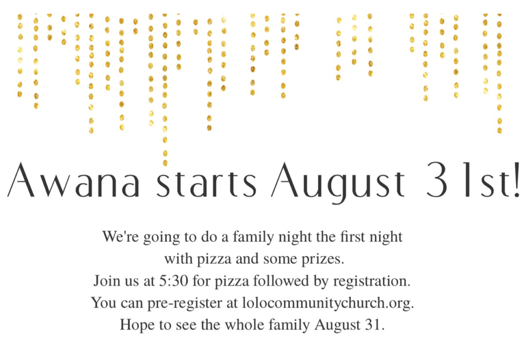 Register Children Awana 2016