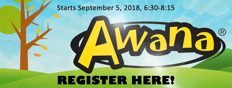 Awana 2018 - Register